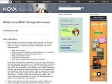 Stronger Hurricanes Lesson Plan