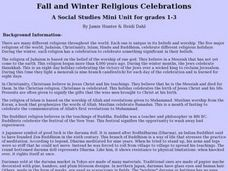 Fall and Winter Religious Celebrations Lesson Plan