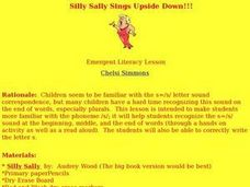 Silly Sally Sings Upside Down!!! Lesson Plan