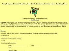 Run, Run, As Fast As You Can, You Can't Catch Me I'm the Super Reading Man! Lesson Plan