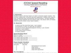Zoom! Speed Reading Lesson Plan