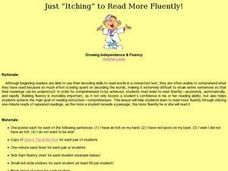 "Just ""Itching"" to Read More Fluently! Lesson Plan"