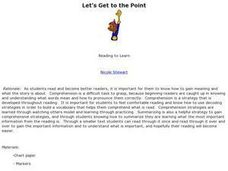 Let's Get to the Point Lesson Plan