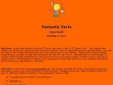 Fantastic Facts Lesson Plan