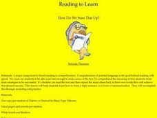 Reading to Learn:  How Do We Sum That Up? Lesson Plan