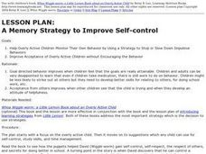 A Memory Strategy to Improve Self-control Lesson Plan