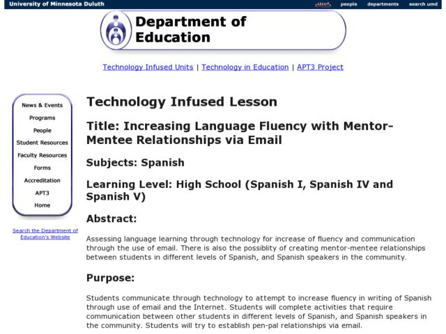 increasing language fluency with mentor