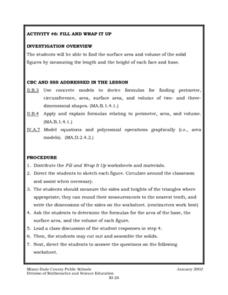 Fill and Wrap It Up Lesson Plan