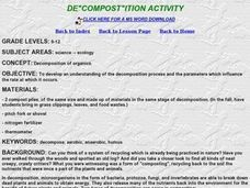 "De""compost""ition Activity Lesson Plan"