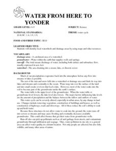 WATER FROM HERE TO YONDER Lesson Plan