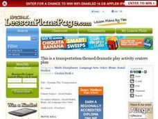 Dramatic Play-Transportation Lesson Plan