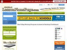 A Five Step Writing Program That Builds Confidence Lesson Plan