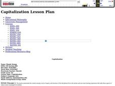 Capitalization Lesson Plan