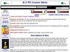 Paper Airplane Throw Lesson Plan