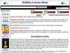 The Twelve Days of Fitness Lesson Plan