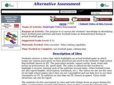 Highlight Video Assessment Lesson Plan