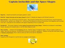 Captain Invincible and the Space Shapes Lesson Plan