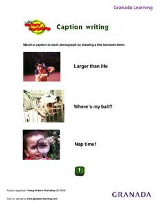 Caption Writing Lesson Plan