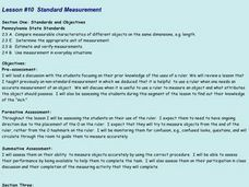 Lesson #10 Standard Measurement Lesson Plan