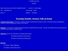Everyday Sounds:  Science Talk on Sound Lesson Plan