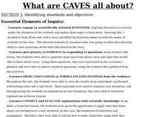 What Are Caves All About? Lesson Plan