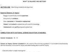 WHAT IS BALANCE AND MOTION? Lesson Plan