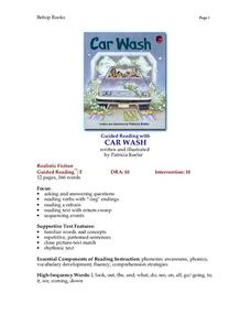 Car Wash Lesson Plan