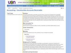 Accounting:  Uncollectible Accounts Receivable Lesson Plan