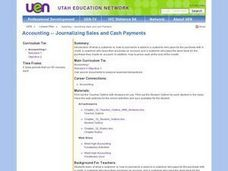 Accounting -- Journalizing Sales and Cash Payments Lesson Plan