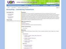 Accounting -- Journalizing Transactions Lesson Plan