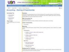 Accounting -- Starting A Proprietorship Lesson Plan
