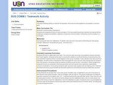 Bus. Commun.-- Teamwork Activity Lesson Plan