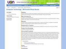 Computer Technology - Millionaire Block Buster Lesson Plan