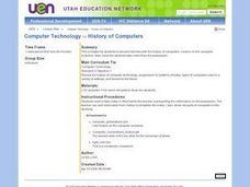 Computer Technology -- History of Computers Lesson Plan