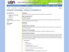Computer Technology -- History of Computers 2 Lesson Plan