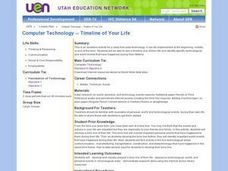 Computer Technology -- Timeline of Your Life Lesson Plan