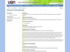 American Contemporary Lesson Plan