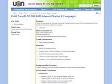 Child Care-SLCC FHS 2600 Internet Chapter 9 (Language) Lesson Plan
