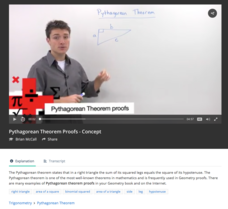Pythagorean Theorem Proofs Video