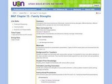Family Strengths Lesson Plan