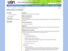 Vocational: Observation of Children Lesson Plan