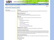 Parent/Teen Relationships Lesson Plan