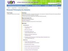 Personal Philosophy and Lifestyles Lesson Plan