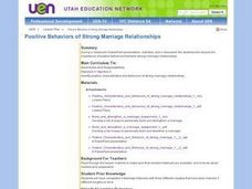 Positive Behaviors of Strong Marriage Relationships Lesson Plan