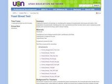 Yeast Bread Test Lesson Plan