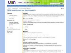 Smart Homes and Appliances Lesson Plan