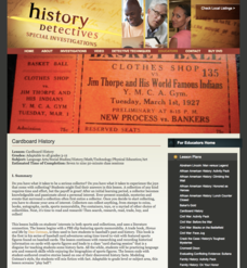 Cardboard History Lesson Plan