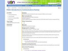 FACS: Introduction to Communication (Family) Lesson Plan