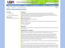 FACS: Communication Games Lesson Plan