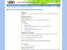 Policies that Relate to American Indians Lesson Plan